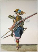 tn 017 - Musztra strzelecka wg Jacoba de Gheyna
